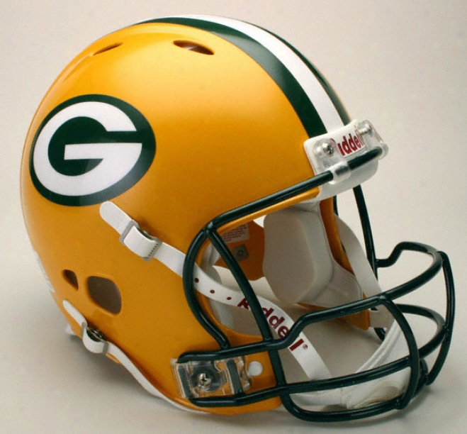 Grsen Bay Packers Authentic Pro Line Revolution Riddell Full Sizing Helmet