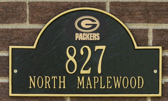Green Bay Packers Black And Gold Personalized Address Wall Plaque