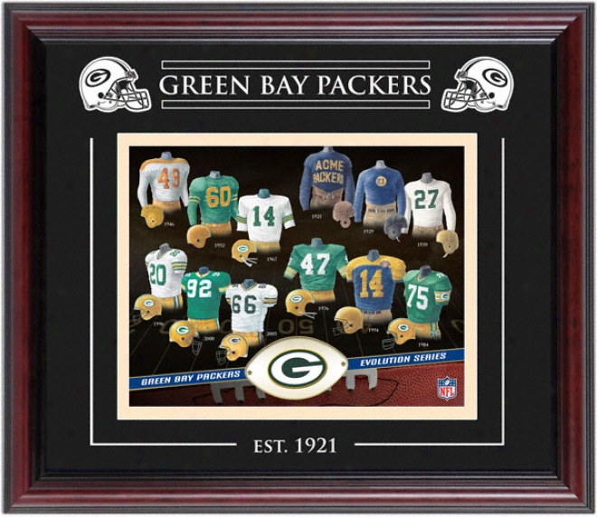 Green Bay Packers - Unfolding - Framed 8x10 Collaeg With Laser Etching