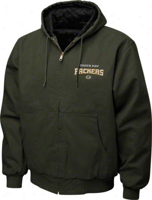 Green Bay Packers Jacket: Green Reebok Cumberland Jacket