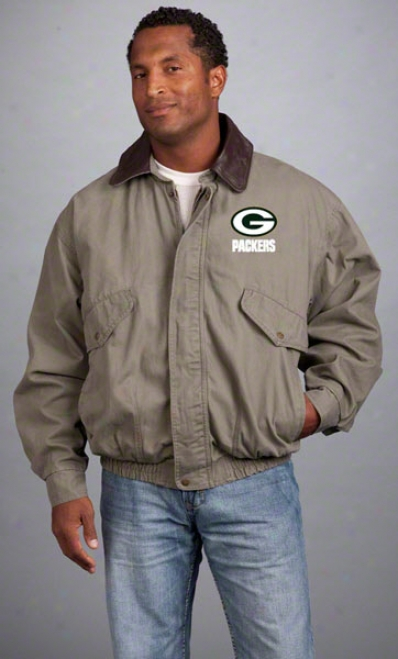 Green Bay Packers Jacket: Olive Reebok Navigator Jacket