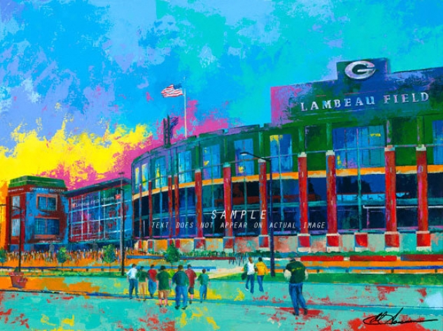 Green Bay Packers - &quotlambeau Field&quot - Large - Unframed Giclee