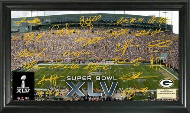Green Bay Packers Super Bowl Xlv Signature Gridiron Photo