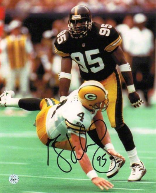Greg Lloyd Pittsburgh Steelers Autographed 8x10 Photograph