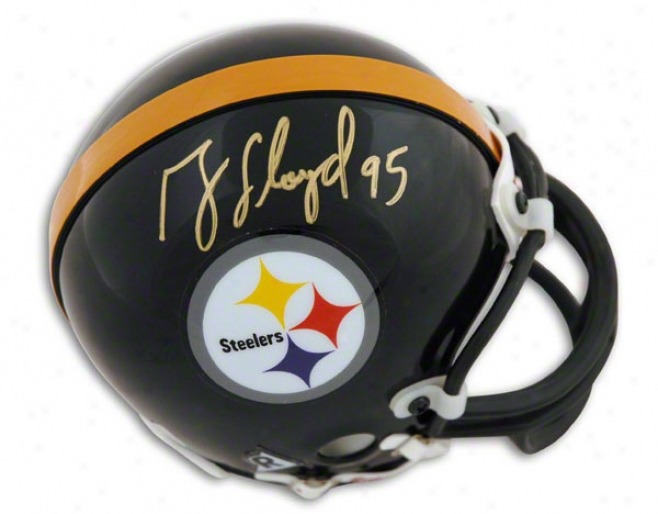 Greg Lloyd Pittsburgh Steelers Autographed Mini Helmet