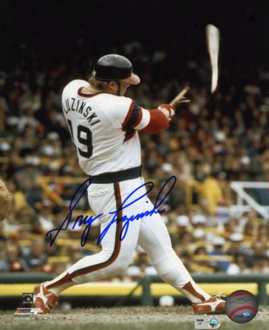 Greg Luzinski Chicago Happy Sox Autographed 8x10 Photograph