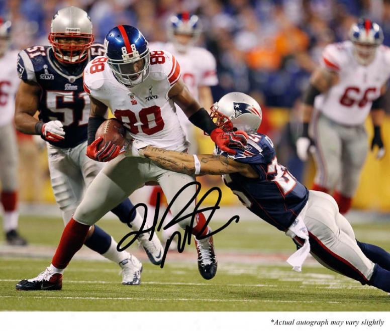 Hakeem Nicks Autographed 16x20 Photogra;h  Details: New York Giants, Super Bowl X1vi