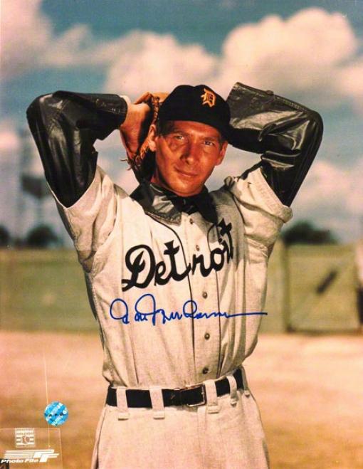 Hal Newhouser Detroit Tigers Autographed 8x10 Photo Windup