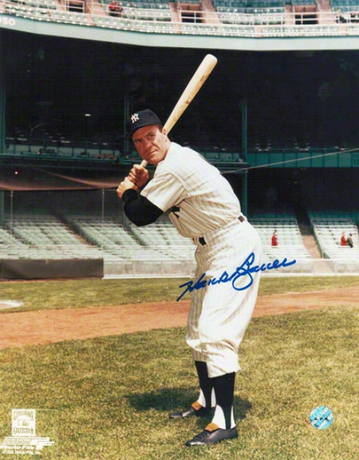 Hank Bauer New York Yankees Autographed 8x10 Photo Batting Stance