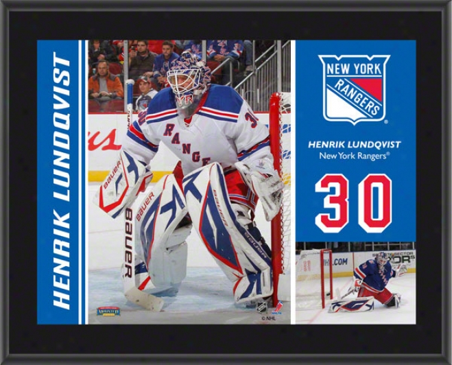 Henrik Lundqvist Plaque  Details: New Yoro Rangers, Sublimated, 10x13, Nhl Plaque