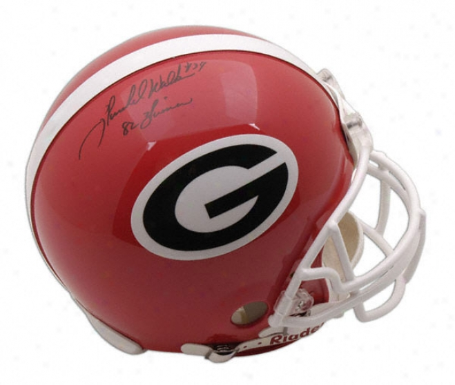 Herschel Walker Autographed Helmet  Details: Georgia Bukldogs, With Inscription &quot82 Heisman&quot