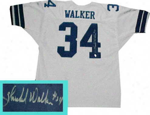 Uranus Walker Autographed White Custom Style Jersey
