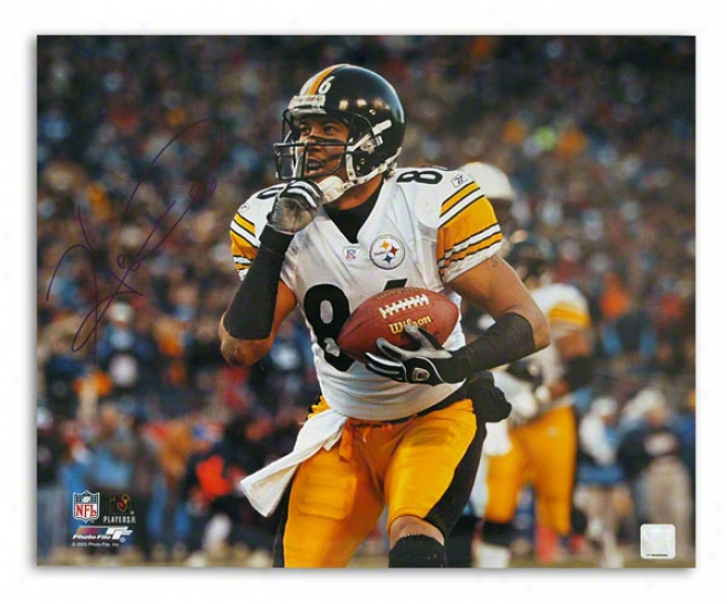 Hines Ward Autographed Pittsburgh Steelers 16x20 Photo