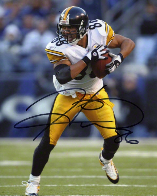Hines Ward Pittsburgh Steelers - Ball In Both Hands - 8x10 Autographed Photograph