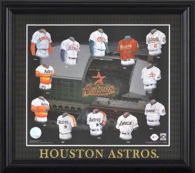 Houston Astros 13x15 Framed Stamp  Detaila: Evolution