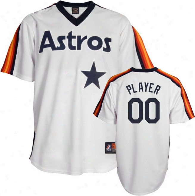 Houston Astros Cooperstown White -any Player- Autograph copy Jersey