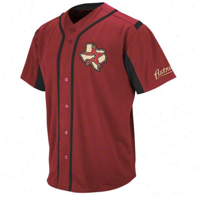 Houston Astros Crimson Wind-up Jersey