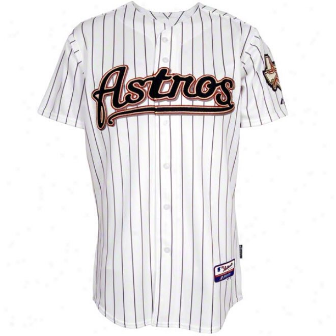 Houston Astros Home White Authentic Cool Baseã¢â�žâ¢ On-field Mlb Jersey