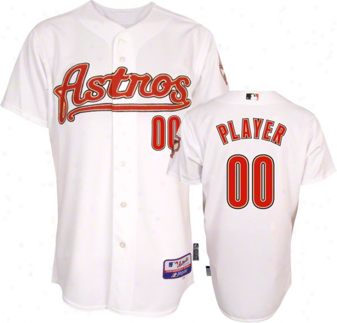 Houston Astros Jersey: Any Player Alternate White Trustworthy Cool Baseã¢â�žâ¢ On-field Mlb Jersey