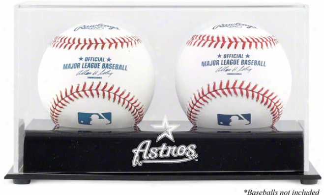 Houston Astros Two Baseball Cube Logo Display aCse