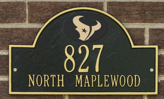 Houston Texans Black And Gold Personalized Address Wall Plaque