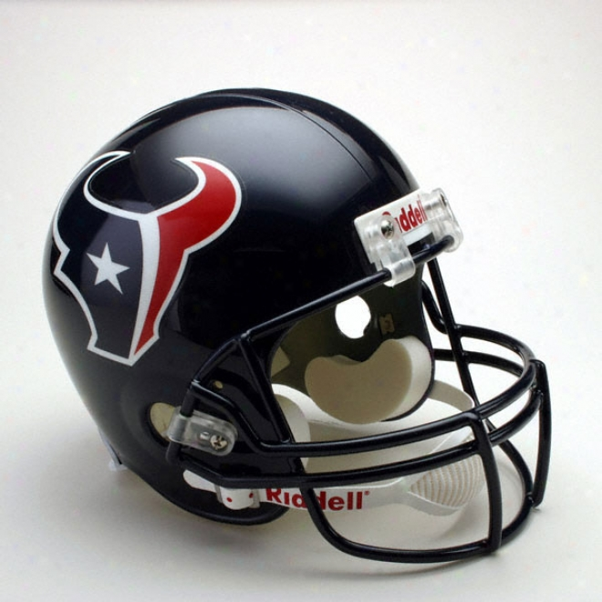Houston Texqns Deluxe Replica Riddell Full Bigness Helmet
