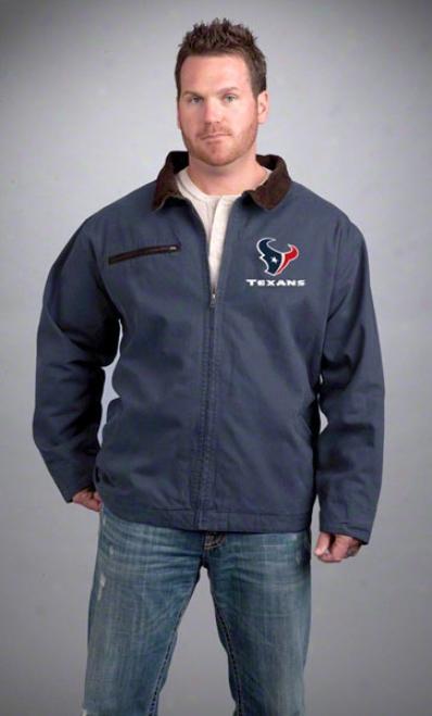 Houston Texans Jacket: Navy Reebok Tradesman Jacket