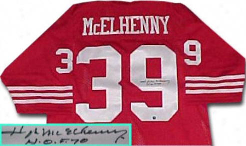 Hugh Mcelhenny San Francisco 49ers Autographed Throwback Jersey With Hof Inscription