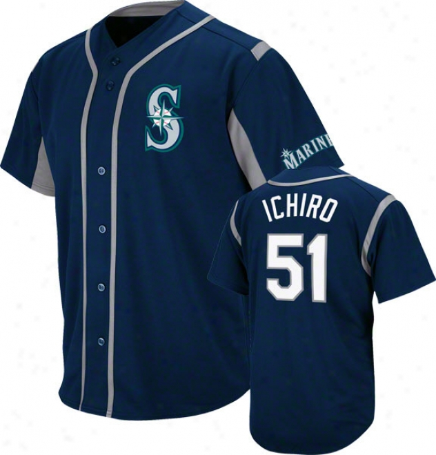 Ichiro Suzuki Seattle Mariners Wind-up Navy Player Jersey