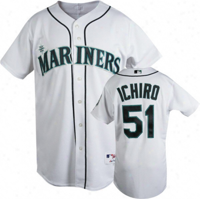 Ichiro Suzuki White Majestic Trustworthy Home On-field Seattle Mariners Jersey