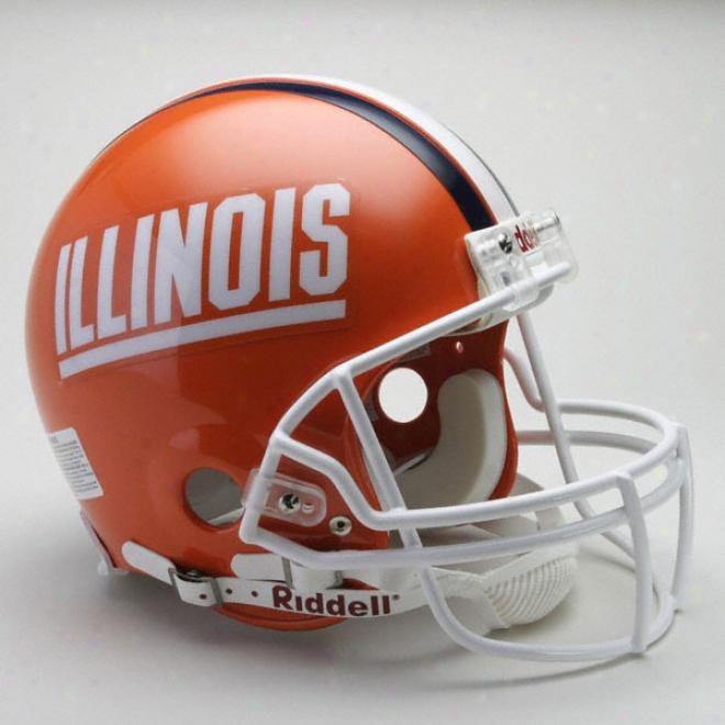 Illinois Fighting Illini Authentic Pro Line Rkddell Full Size Helnet