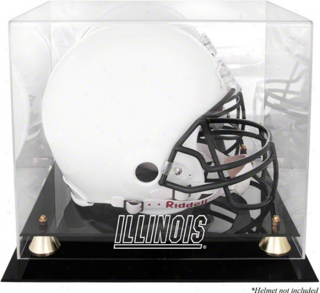 Illinois Fighting Illini Golden Classic Helmet Case And Mirror Back