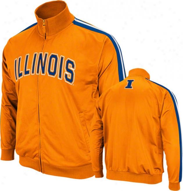 Illinois Fighting Illini Orange Pace Track Jacket