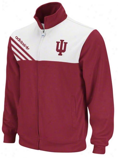 Indiana Hoosiers Adidas Cardinal Solemnization Follow Jacket