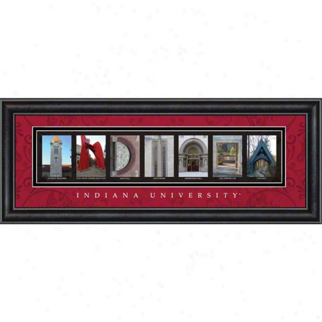 Indiana Hooisers Letter Art