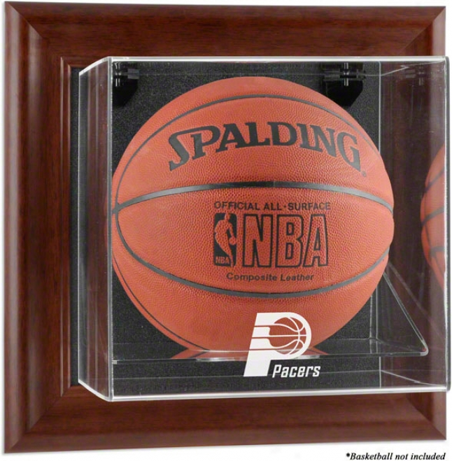 Indiana Pacers Framed Wall Mounted Logo Basketball Display Case