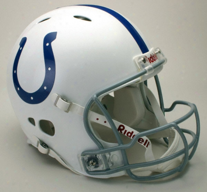 Indianapolis Colts Authentic Pro Line Revolution Riddell Full Size Helmet
