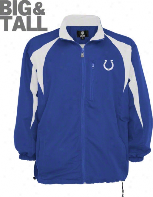 Indianapolis Colts Big & Tall Blitz Microfiber Full Zip Jadket