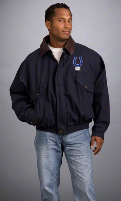 Indianapolis Colts Jacket: Navy Reebok Navigator Jacket