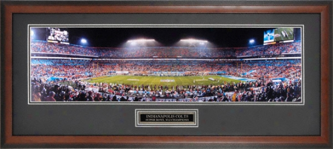 Indianapolis Colts - Super Bowl Xli Champions - Framed Unsigned Panoramic
