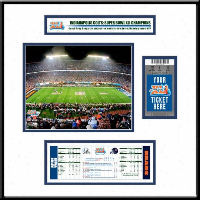 Indianapolis Colts Super Bowl Xli Champions Ticket Frame Jr.
