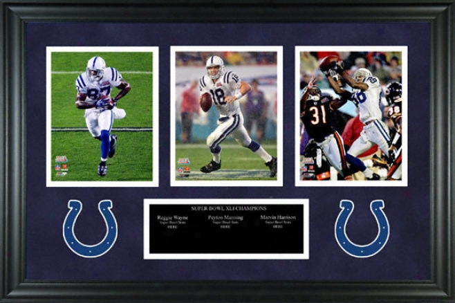 Indianapolis Colts - Triple Threat - Framed Collectible Piece
