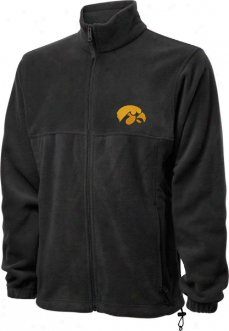 Iowa Hawkeyes Black Columbia Flanker Full-zip Jacket