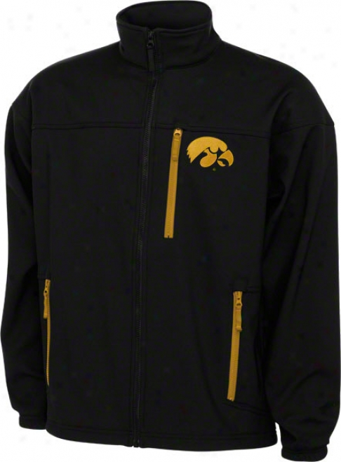 Iowa Hawkeyes Black Columbia Give 'em 6 Softshell Jacket