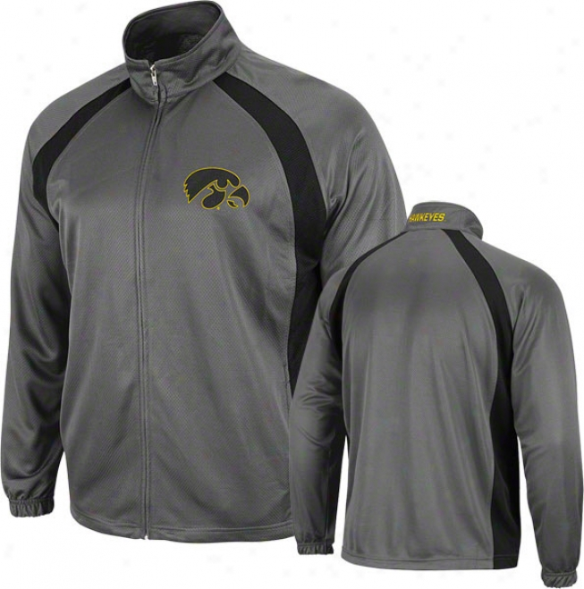 Iowa Hawkeyes Charcoal Rival Full-zip Jacket
