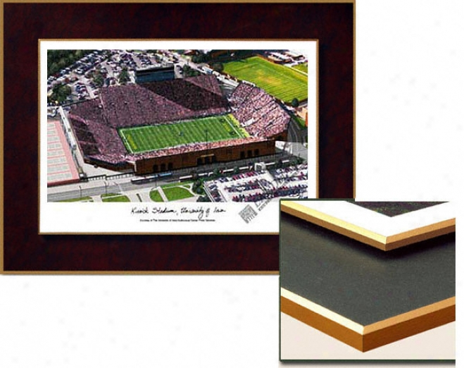 Iowa Hawkeyes Stadium Collegiate Laminated Lithograph