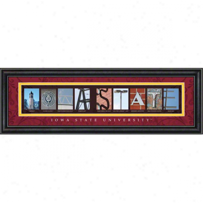 Iowa State Cyclones Letter Art