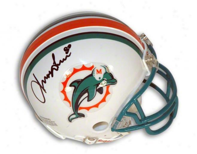 Irving Fryar Autographed Miami Dolphins Mini Helmet