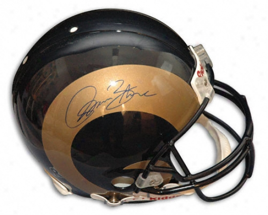 Isaac Bruce St. Louis Rams Autogrraphed Pro Helmet