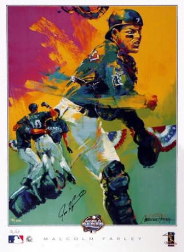 Ivan 'pudge' Rdoriguez Texas Rangers 12x18 Lithograph